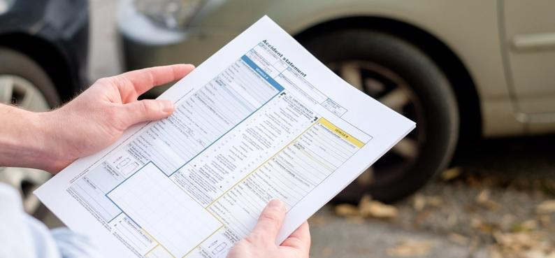 Accident statement after a car accident
