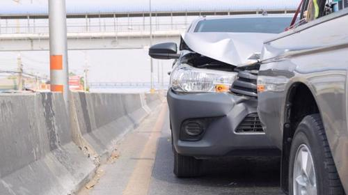 A rear-end accident between an Uber and another car in Rochester.