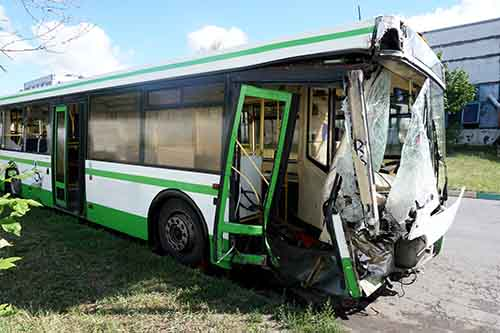 This image shows a bus wreck. If you've been injured, contact Cellino Law for a free case evaluation.
