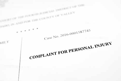 This image shows a personal injury claim document. A Garden City pedestrian accident lawyer will help you navigate the process of obtaining compensation.