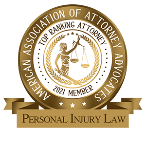 American Association of Attorney Advocates - Personal Injury Law Badge
