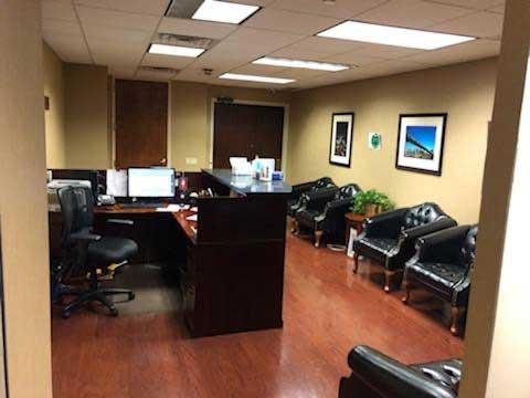 reception area in Manhattan office