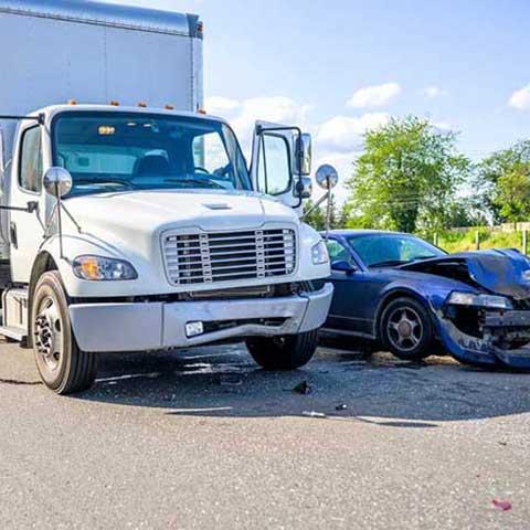 delivery vehicle-crash
