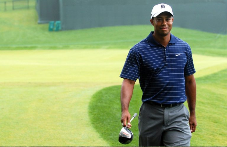 Tiger Woods on a golf course