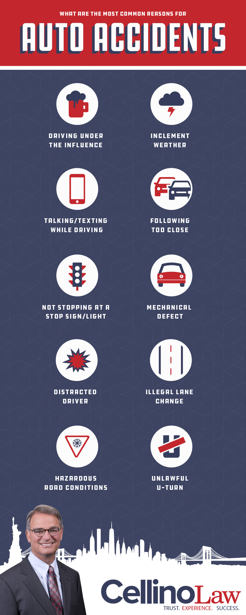 Melville Car Accident Lawyer Infographic