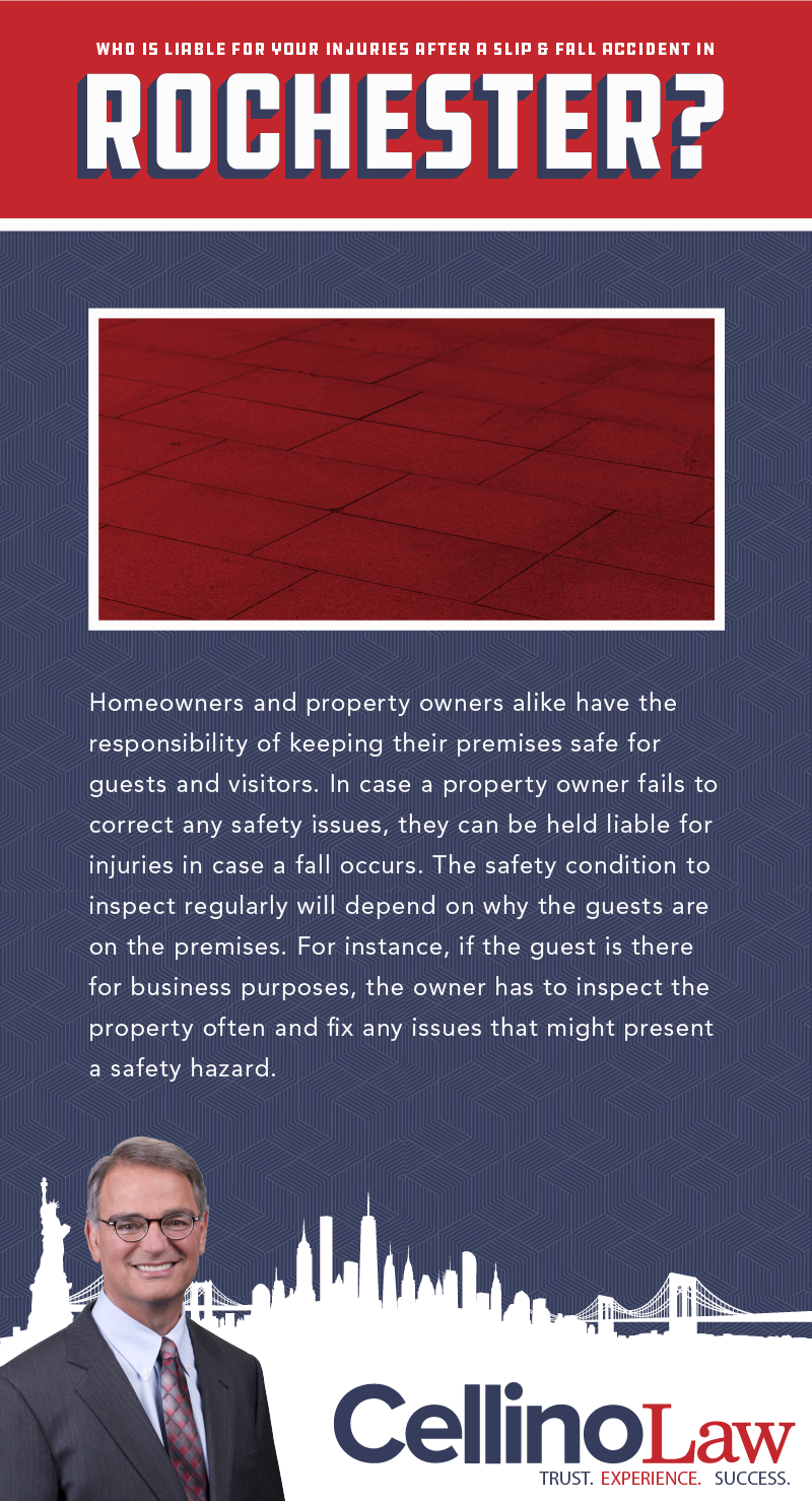 Rochester Slip and Fall Injury Lawyer Infographic