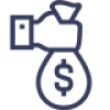 No upfront fee icon